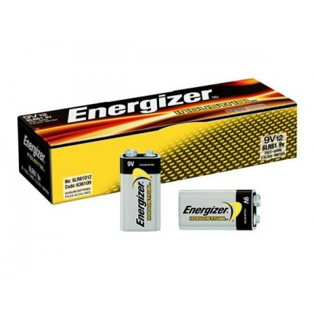 Energiser Industrial Battery 9V PP3 x 12