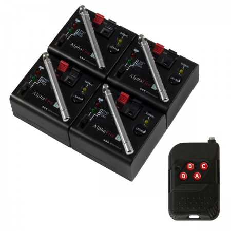 4 Cue Distributed Firework Firing System